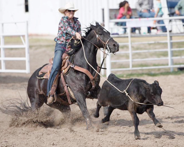 Jorgenson competes in world's biggest rodeo