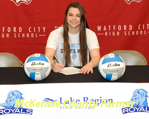 Faller takes volleyball skills to Lake Region