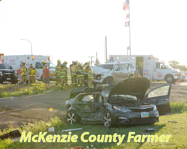 Fargo woman seriously injured in accident with law enforcement vehicle