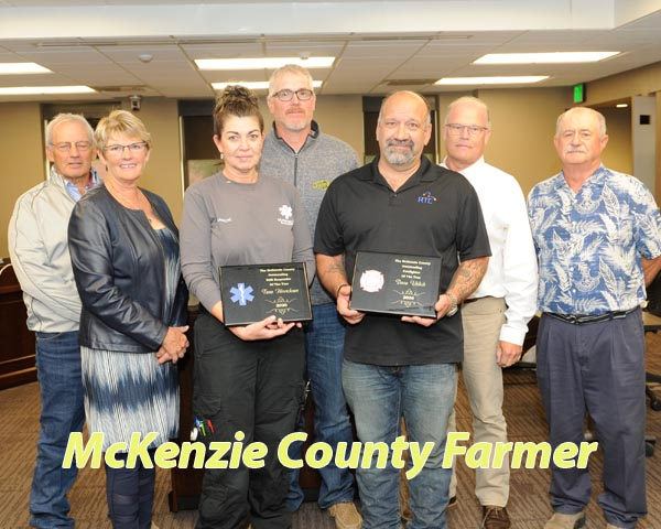 Uhlich, Hinricksen honored as First Responders of the Year