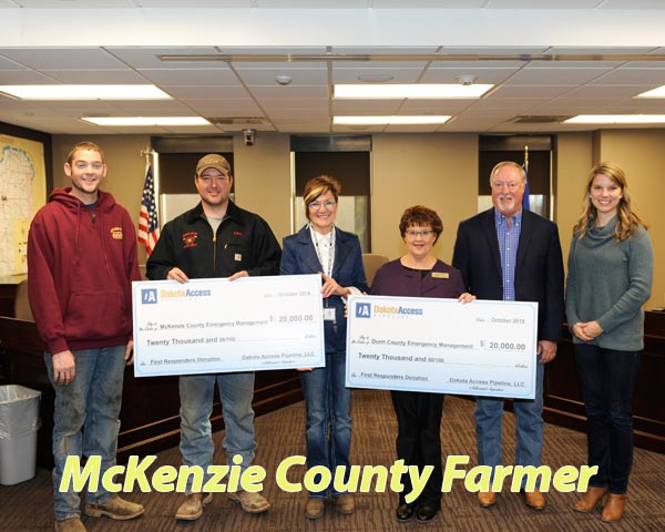 DAPL donates $40,000 to McKenzie County, Dunn County responders